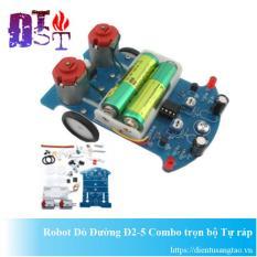 Robot dò đường D2-5 Combo trọn bộ Tự ráp