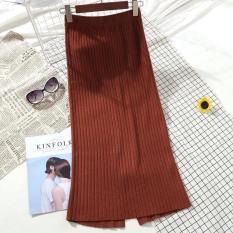 Chân váy len gân dáng dài Quảng Châu chuẩn đẹp – 008 – Multicolour Wool Midi Skirt