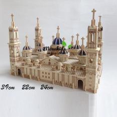 Đồ chơi lắp ráp gỗ 3D Mô hình tháp Pilar Basilica – Tặng kèm đèn LED USB trang trí