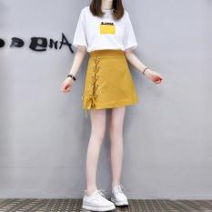 Set Chân Váy Chữ A Phối Kẻ Nhỏ Kết Hợp Áo Thun Trơn NTD Fashion WM VA 800009 Y