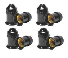 8 Đui đèn E27 tiêu chuẩn 220V Đen