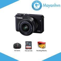 Canon EOS M10 18MP kèm lens kit EF-M 15-45mm F 3.5-6.3 IS STM (Đen) – Chính hãng Lê Bảo Minh + Tặng Khoá học nhiếp ảnh EOS + Pikachu + Thẻ SD 16gb + Túi