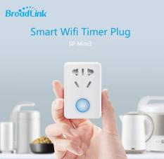 Ổ Cắm Thông Minh Broadlink SP Mini 3 Hẹn Giờ Điều Khiển Từ Xa 10A/220V/2500W (trắng)