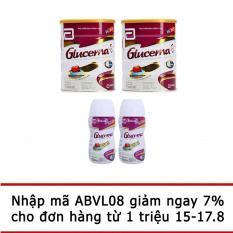 Bộ 2 lon sữa bột Glucerna Hương Vani 850g + 2 chai sữa nước Glucerna hương Vani 220ml