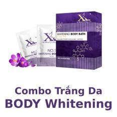 Bộ đôi dưỡng trắng da toàn thân XSKIN Whitening Body Bath gồm Saffron và Kem ủ trắng