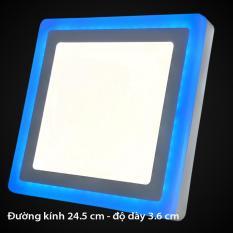 Đèn led nổi ốp trần vuông 24w ánh sáng trắng xanh dương