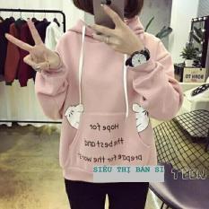 Áo khoác nỉ hoodie nữ HOPE FOR đẹp dịu dàng QQ2019