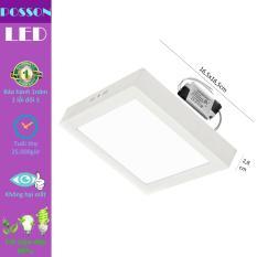 Đèn Led ốp trần 12w vuông nổi sáng trắng Posson LP-So12
