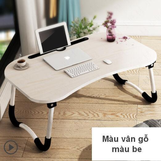 Mua Bàn Laptop, bàn học mặt gỗ, chân kim loại chống trơn trượt, có chỗ để điện thoại đa năng tiện lợi giá cao