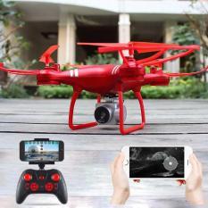 Máy bay chụp ảnh Flycam KY101 – Máy bay chụp ảnh Selfie, kết nối Wifi với điện thoại + Tặng tay cầm điều khiển từ xa (Đỏ)