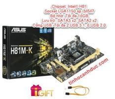 Bo mạch Mainboard AsusH81 MK có DVI USB3 SATA3 sp i3 i5 i7