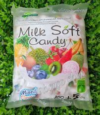 Kẹo dẻo trái cây tổng hợp Milk Soft Candy (105 viên) 390gr