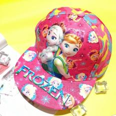 Nón Snapback Công chúa Elsa Anna Frozen nổi 3D lưới màu lính hồng – NONFZL052704