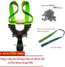 Sung cao su dây dẹt siêu bền 2 lớp 1mm BATMAN tặng 1 dây và 100 bisat8mm-|BGscs390