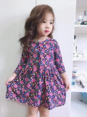 Set 2 váy thu dài tay xinh xắn cho bé (màu chọn ngẫu nhiên)