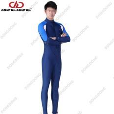 Quần áo lặn biển dài tay NAM – BLUE, cản tia UV 99% (UPF50+), chống nắng cao cấp – DONGDONG