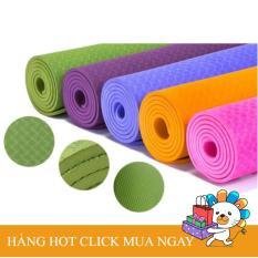 Thảm tập Yoga TPE cao cấp KT 180 x 60 x 0.7cm siêu dày