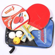 Bộ vợt bóng bàn mặt cao su cao cấp REGAIN tặng kèm 3 bóng