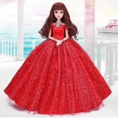 Búp Bê 12 Khớp Cô Dâu Xinh Đẹp Đỏ Tặng Kèm Phụ Kiện 08 Món + 03 Váy Ngắn