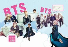 Combo 20 tờ bao tập BTS tặng 1 móc khóa in hình BTS