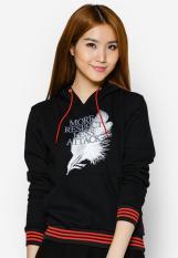Áo khoác thun nữ cổ chui hoodie Phúc An 4018 (màu đen)