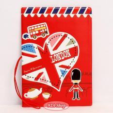 Vỏ hộ chiếu Passport london 3D
