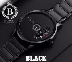 Đồng hồ Nam SKMEI 1260 [Billux] dây kim loại – 39mm (Đen – Trắng) [SKMMT006]