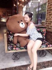 Gấu Bông Brown khổ vải 1m cực đáng yêu