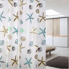 Rèm cửa nhà tắm EVA dài 2m không thấm nước – Sao biển