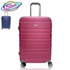 vali kéo nhựa cứng size 24 inch shalla vân đôi (doubled) bảo hành 3 năm.