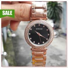 Đồng hồ nữ GUOU 8112 KL thiết kế đơn giản, sang trọng, phong cách