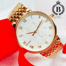 Đồng hồ Nam/Nữ Baishuns (Ver 2.0) [Billux] dây kim loại – 40mm (Vàng) [BSHMT002]
