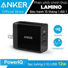 Sạc ANKER PowerPort 2 Lite 2 cổng PowerIQ 12W – Hãng phân phối chính thức