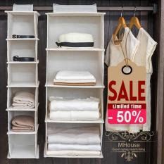 Simple Houseware 5 Shelves Hanging Closet Organizer (Grey)