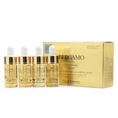 Tinh chất tinh thể vàng – dưỡng trắng và tái tạo da Bergamo Luxury Gold Collagen & Caviar [4 lọ]