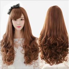 Tóc giả nữ Hàn Quốc loại 1 có da đầu + tặng Lưới trùm tóc – TG1875 ( MÀU NÂU TỐI – TRONG HÌNH LÀ NÂU SÁNG )