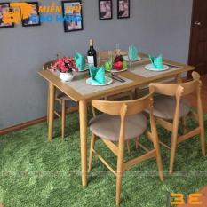 Bộ bàn ăn Suwon màu tự nhiên 4 ghế