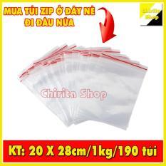1KG Túi Zip sọc đỏ – Túi zipper đựng thực phẩm chất lượng LOẠI 1 – Size 20x28cm – Chirita Shop