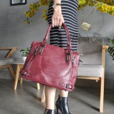 Túi xách da nữ Hàn Quốc form rộng đựng được giấy A4 màu đẹp sang trọng