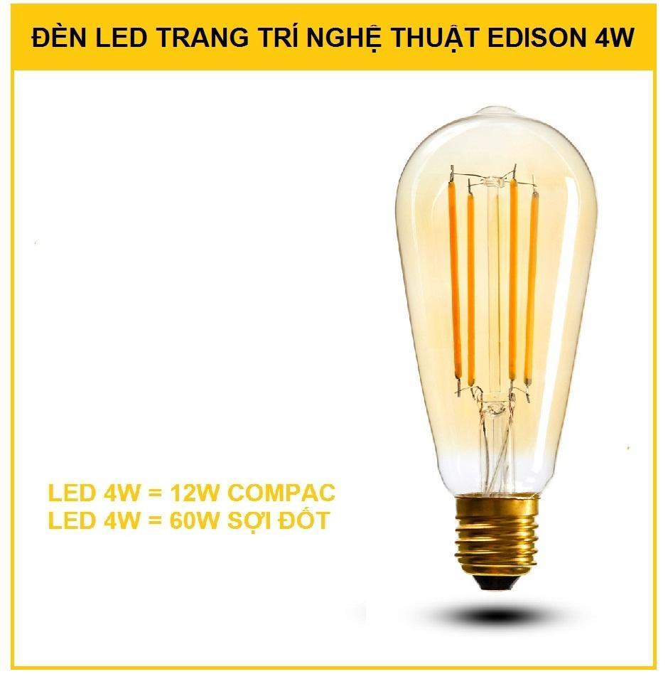 Đèn led Edison 4w trang trí nghệ thuật