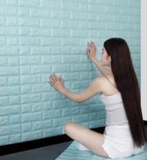 Miếng xốp dán tường cách âm ,cách nhiệt 3D giả gạch hàn quốc-khổ 70x77cm (nhiều màu đẹp bạn dễ lựa chọn)
