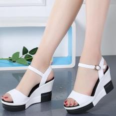 Giày sandal nữ đế xuồng cao cấp kiểu Hàn Quốc