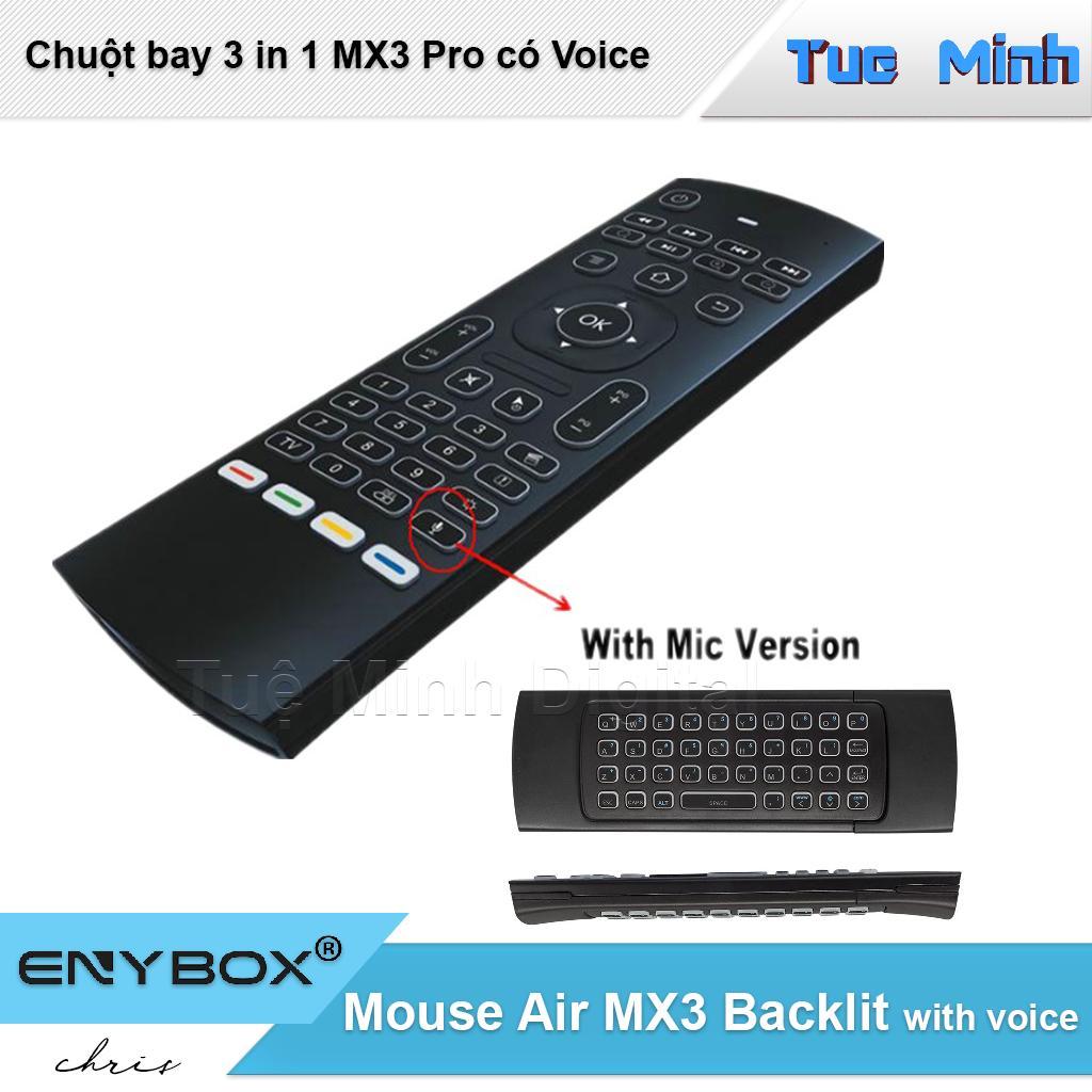 Chuột bay điều khiển không dây Mouse Air MX3 Pro có Voice sử dụng cho các thiết bị Android