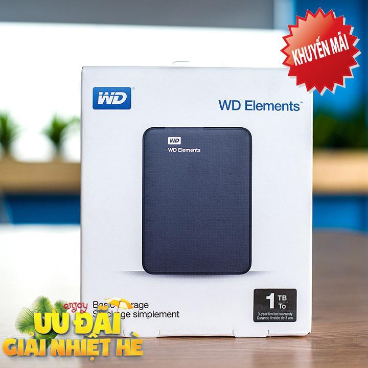 Ổ Cứng Di Động WD Elements 1Tb kết nối USB 3.0 (Hàng Nhập Khẩu) Đang Bán Tại Nguyên Bản