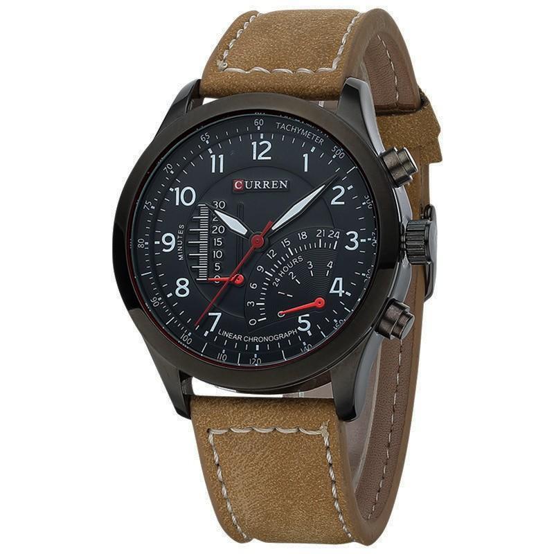 Đồng hồ nam thời trang cao cấp Curren 8152 ( Nâu ) CR01