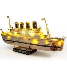 Đồ chơi lắp ráp gỗ 3D Mô hình tàu Titanic – Đồ chơi gỗ | Mô hình thuyền | Mô hình Tàu | Titanic | Đồ chơi xếp hình | Đồ chơi lắp ghép gỗ – Tặng kèm đèn LED trang trí