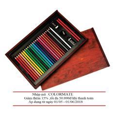 Hộp Gỗ 24 Bút Chì Màu Colormate MS-30W