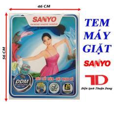 [Free Ship Toàn Quốc] TEM DÁN MÁY GIẶT SANYO + TẶNG KÈM BĂNG KEO 2 MẶT