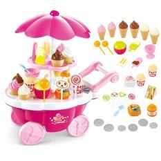 Bộ đồ chơi xe đẩy bán kem 2 tầng cho bé giá rẻ No.668-25 – MS.SP000532-KTX