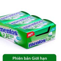 Kẹo ngậm không đường Mentos Pure Fresh hương bạc hà hộp (6 hủ)